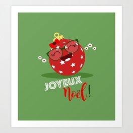 Boule de Noël (rose) Art Print