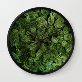 Leafs of Green (Color) Wall Clock