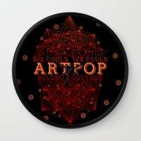 artpop Wall Clocks featuring Artpop by Mario Ezquerra