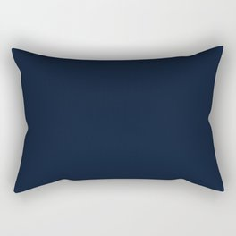 Chicago Football Team Dark Navy Blue Solid Mix and Match Colors Rectangular Pillow