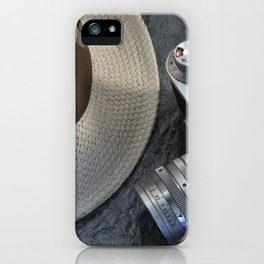 Leica camera and Panama hat iPhone Case