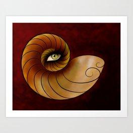 Grassonius V1 - watching eye Art Print
