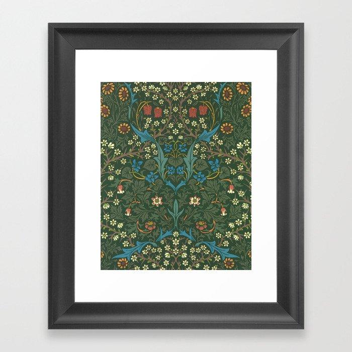 "William Morris ""Blackthorn"" 1. Gerahmter Kunstdruck"