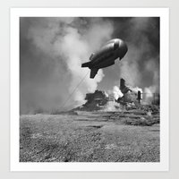 led zeppelin Art Prints featuring Zeppelin by mrfsrf