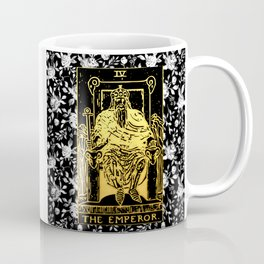The Emperor - A Floral Tarot Print Coffee Mug