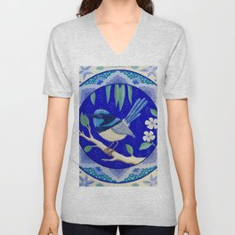 Blue Wren Beauty Unisex V-Neck