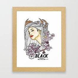 Black Eyes Japan Framed Art Print