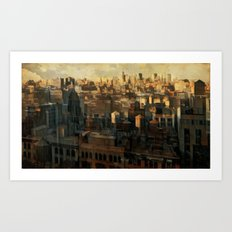 Arkus city Art Print