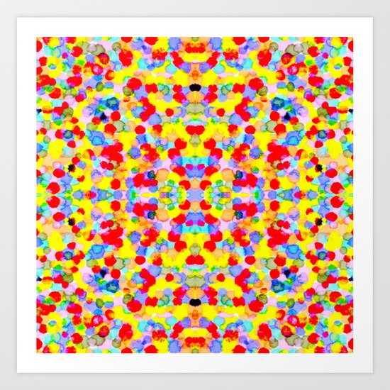 Dots Mirrored Art Print