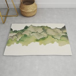 green mountains Rug
