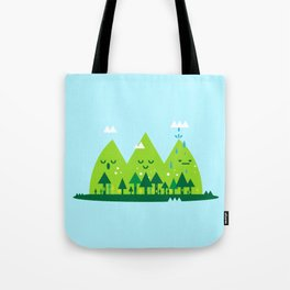 Monday Mountains Tote Bag