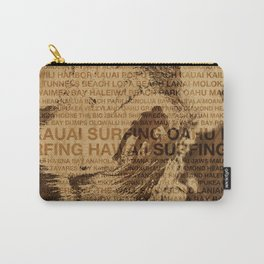 Surfing Hawaii, The Green Room, Hawaiian Surfing Design Carry-All Pouch