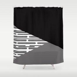 Geometric patchwork 6 Shower Curtain
