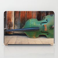 bass iPad Cases featuring Double Bass by happeemonkee