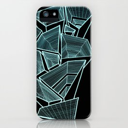 Pockets - Inverted Blue iPhone Case
