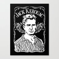 kerouac Canvas Prints featuring Jack Kerouac by Josep M. Maya