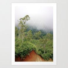 Rain forest world - travel print Art Print