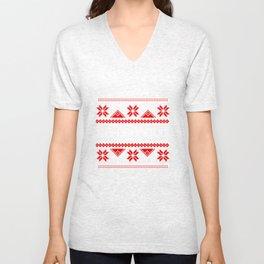 Bah Humbug Ugly Christmas Sweater- Funny Grumpy Unisex V-Neck