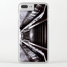 Silver Stairway Clear iPhone Case