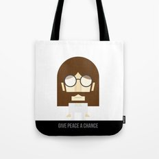 Give Peace a Chance Lennon Series Tote Bag