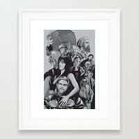 sons of anarchy Framed Art Prints featuring Sons of Anarchy by Denis O'Sullivan