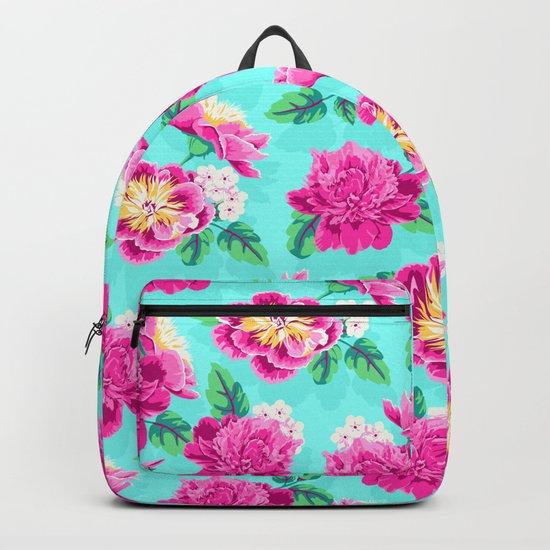 Bright Flowers Pretty Peonies Backpack