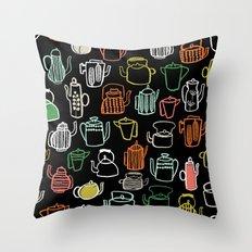 Kitchen Teapots - Multi by Andrea Lauren Throw Pillow