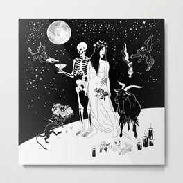 Black Wedding Metal Print