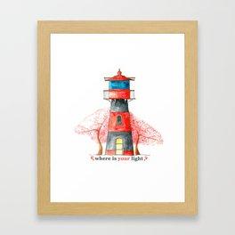 Lighthouse&Sacura Framed Art Print