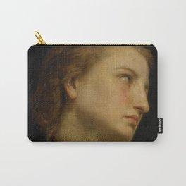 """William-Adolphe Bouguereau """"Study Of a Woman's Head (Philomèle Et Progné)"""" Carry-All Pouch"""