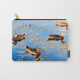 Ducks on a Pond Carry-All Pouch