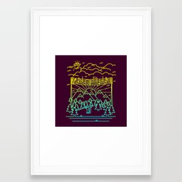 Mountain Notes Framed Art Print