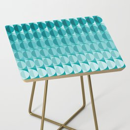 Leaves in the moonlight - a pattern in teal Side Table
