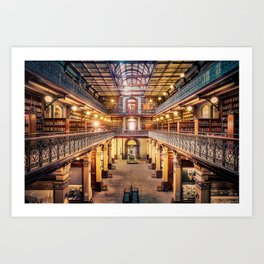 Let's Retire To The Library Art Print