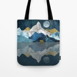 Wild North Blues Night Tote Bag