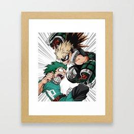 Midoriya vs Genos Framed Art Print