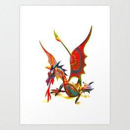 Alebrije dragon Art Print