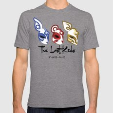 The Lost Kids Mens Fitted Tee Tri-Grey LARGE
