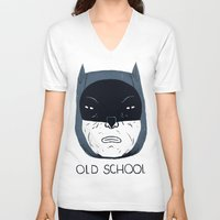 school V-neck T-shirts featuring old school by Louis Roskosch