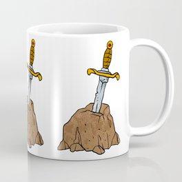 cartoon sword in stone Coffee Mug