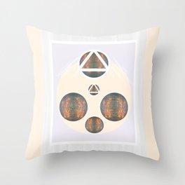 Monkey Head: Circle & Triangle Throw Pillow