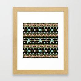 Millefiori Boho Chic Stripe Framed Art Print