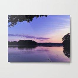 Benson Lake Purple Sky Metal Print