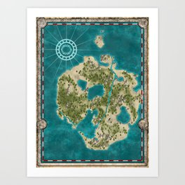 Pirate Adventure Map Art Print