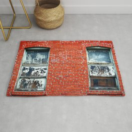 Old Windows Bricks Rug