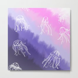Magic Jellyfish Metal Print