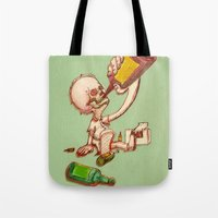 drink Tote Bags featuring Drink by SaulB