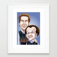 will ferrell Framed Art Prints featuring Step Brothers by Leo Maia