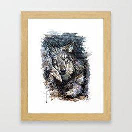 Wolf life Framed Art Print