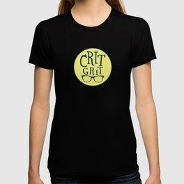 """""""Crit Grit"""" Surviving Art School Badge T-shirt"""